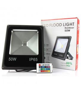 Светодиодный прожектор RGB 220 В, 50 Вт , COB, SLIM, IP65