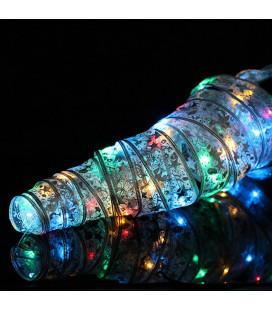 Светодиодная гирлянда RGB «Тесьма» (кружево, мерцающая), 1 метр, 4.5 В