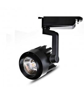 Трековый светильник - Spotlight, однофазный, Модерн, 220 В, 20 Вт, 4500 К, черный