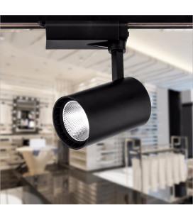 Трековый светильник - Spotlight, однофазный, 3-х контактный, 220 В, 30 Вт, черный
