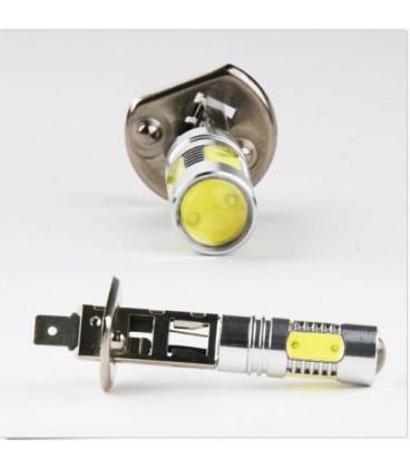 Авто LED лампа в противотуманные фары тип:COB +линза H1 7,5 Ватт