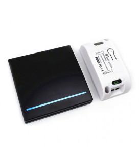 Беспроводной радио выключатель-передатчик одноклавишный, Smart серия, черный