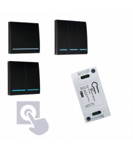 SMART Комплект беспроводных выключателей, черный, клавишный