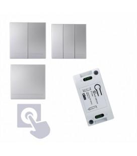 SMART Комплект беспроводных выключателей, серебро, клавишный