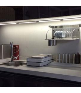 Накладной светодиодный линейный светильник T8  с радиоволновым датчиком движения  120см-белый