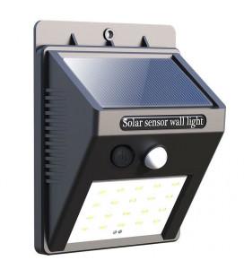Светильник уличный, настенный, датчик движения, солнечная панель
