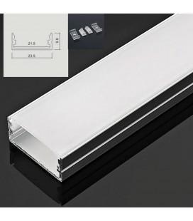 Профиль широкий 21.5 мм, молочный акриловый экран, 2 заглушки, крепеж, 200 см