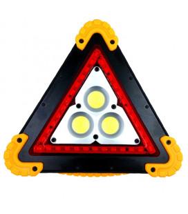 Аккумуляторный портативный фонарь -прожектор COB  3 диода/знак аварийной остановки