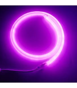 Светодиодный неон круглый, 360°, SMD2835,120 диодов, ⌀14 мм, 12 Вольт, IP67 - розовый
