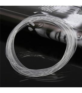 Световой оптоволоконнный кабель бокового свечения в прозрачной трубке, d 3мм
