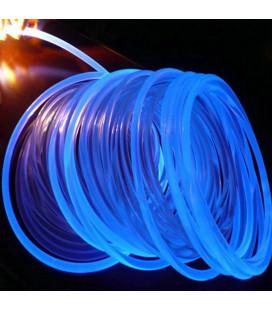 Световой оптоволоконнный кабель бокового свечения в прозрачной трубке, d 4мм