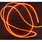 Световой оптоволоконнный кабель бокового свечения в прозрачной трубке ,яркий, d 2мм