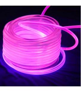 Световой оптоволоконнный кабель бокового свечения в прозрачной трубке, d 6мм
