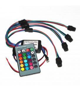 RGB - Источник света X4 для оптоволокна, ИК, Мини, D 6 мм, 8 Вт, 12 В
