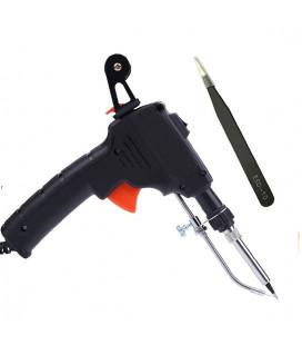 Паяльный комплект - Паяльник-пистолет с авто. подачей припоя 60 Вт, 220 В, антистатический пинцет