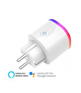Умная SMART розетка Wi-Fi, 16 А, с RGB подсветкой