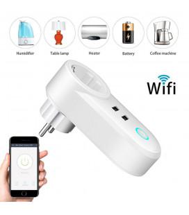Умная розетка Wi-Fi, 10 А SMART USB