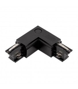 L коннектор для шинопровода трека 4 контакта, 3 фазы, черный