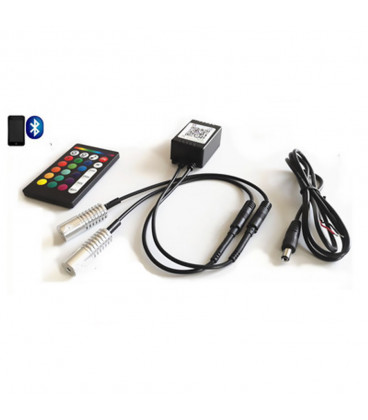 RGB - Источник света Х2 для оптоволокна, D8 мм, RF, Bluetooth, 6 Вт, 12 В