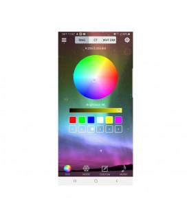 RGB - Источник света Х2 для оптоволокна, D 8 мм, RF, Bluetooth, 6 Вт, 12 В