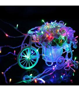 """Светодиодная гирлянда """"Нить"""", 220 вольт, 30 метров,300 диодов, RGB"""