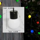 """Светодиодная гирлянда """"Шарики"""", соединяемая, 220 вольт,10 метров, 100 шариков, цвет RGB"""