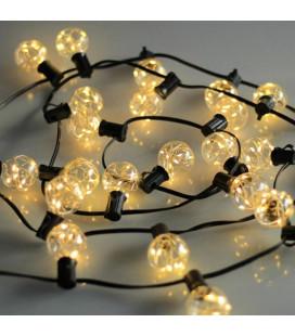 Белт-лайт G40 с лампами, черный, 220 вольт,10 метров, 25 ламп