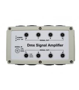 DMX усилитель сигнала (сплиттер), 8 портов