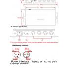 Усилитель DMX сигнала 4 порта