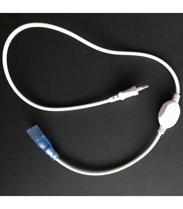 Вилка для гибкого неона 220в одноцветного 8*15 мм вместе с пин