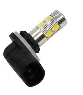 Авто LED лампа в противотуманные фары тип: SMD 5630 +линза 881(H27) 10 Ватт