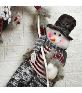 Кукла подвесная «Снеговик» 55 см.