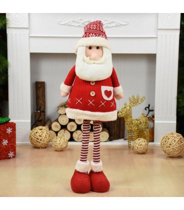 Кукла с выдвижным механизмом 75 см, Дед Мороз, красный