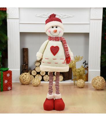 Кукла с выдвижным механизмом 75 см, Снеговик, белый