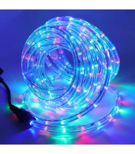 Светодиодный Дюралайт - Мультицвет, круглый 360, d11 мм, 24 д/м, 220 В