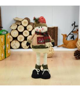 Кукла с выдвижным механизмом 40 см, Снеговик
