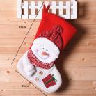 Носок для подарков, красный, Снеговик, 45 см.