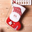 Носок для подарков, красный, Санта Клаус, 45 см.