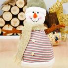 Фигурка Снеговик с гирляндой, 40 см