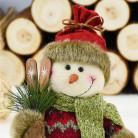 Фигурка Снеговик с лыжами, 27 см