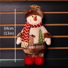 Фигурка Снеговик нарядный, 34 см