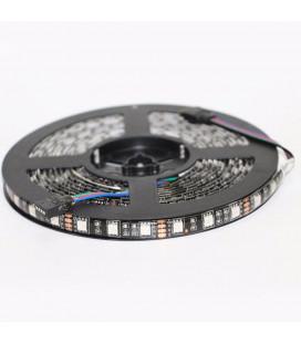 Светодиодная лента RGB SMD5050-60LED-IP65-12V (на черном основании) 5м.