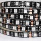 Светодиодная лента RGB SMD5050-60LED-IP33-12V (на черном основании)