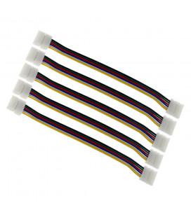 Соединитель двухсторонний RGBCCT - 6 Pin, 12 мм, провод 10-15 см