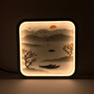 """Декоративный светильник """"Восточный пейзаж"""" 220 Вольт, 15 Вт, белый + теплый"""