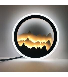 """Декоративный светильник """"Сияние"""" 220 Вольт, 20 Вт, белый + теплый"""