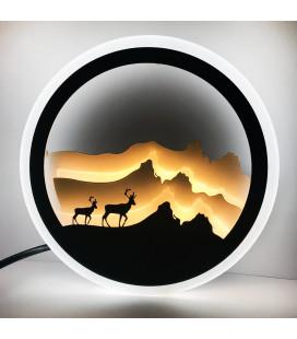 """Декоративный светильник """"Горный дух"""" 220 Вольт, 20 Вт, белый + теплый"""