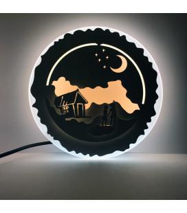 """Декоративный светильник """"Деревенская ночь"""" 220 Вольт, 25 Вт, белый + теплый"""