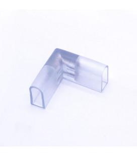 Угловой вертикальный коннектор для неона, 2 контакта, 8х14, 8х16 мм