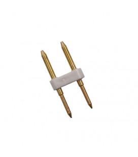 Pin коннектор для круглого гибкого неона,360о, d16, одноцветного
